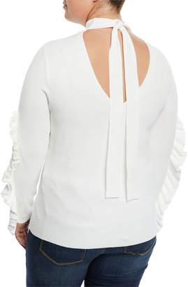 Rachel Roy Callum Ruffle-Sleeve Turtleneck Top, Plus Size