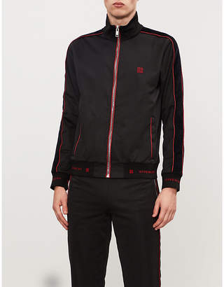 Givenchy Contrast-piped piqué jacket