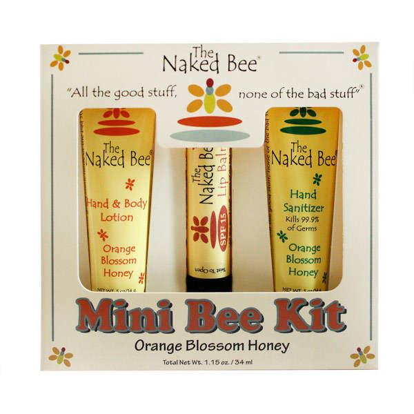 The Naked Bee Mini Bee Kit - Orange Blossom Honey by 3pieces Kit)