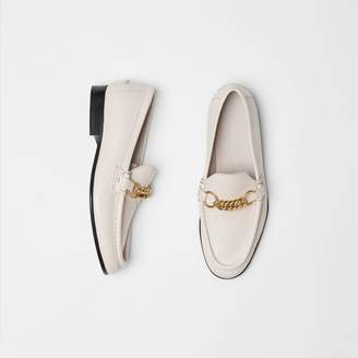 Burberry The Leather Link Loafer , Size: 37, Grey