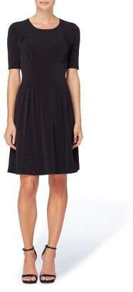 Women's Catherine Catherine Malandrino Jonni Pleat Jersey Fit & Flare Dress $98 thestylecure.com