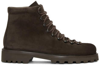 A.P.C. Brown Suede Jura Boots