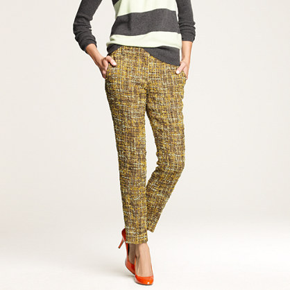 J.Crew Café capri in harvest tweed