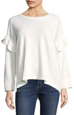 Current/Elliott Cotton Ruffled Sweatshirt