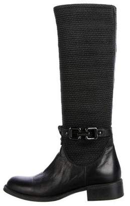 Aquatalia Knit Knee-High Boots