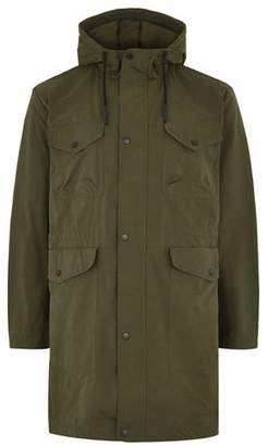Topman Mens Khaki Parka Coat