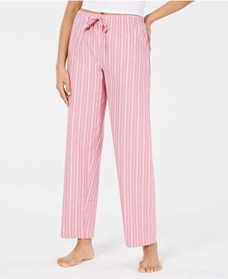 8a5f69013 Charter Club Stripe-Print Woven Soft Cotton Pajama Pants