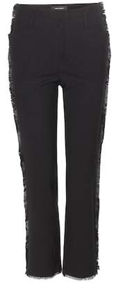Isabel Marant Isiah embellished linen and cotton-blend trousers