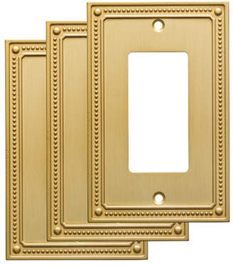 Franklin Brass Classic Beaded Single Decorator Wall Plate
