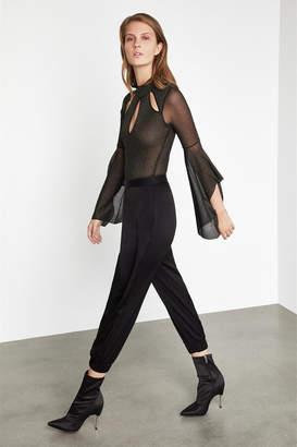 BCBGMAXAZRIA Flare Sleeve Knit Bodysuit