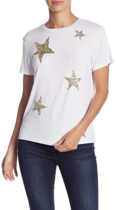 Romeo & Juliet Couture Star Embroidered Short Sleeve Shirt