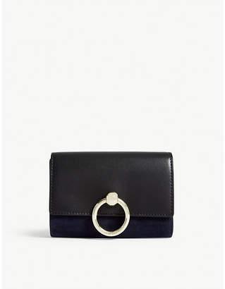 Claudie Pierlot Amaretto suede leather wallet