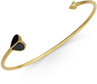 Kate Spade Gold-Tone Enamel & Cubic Zirconia Heart & Arrow Cuff Bracelet