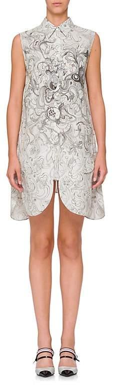 Prada Women's Tulip-Hem Compact Poplin Shirtdress