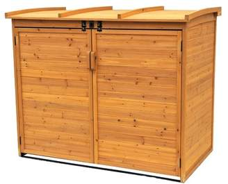 Leisure Season Refuge 5 ft. 6 in. W x 3 ft. 2 in. D Wooden Horizontal Garbage Shed