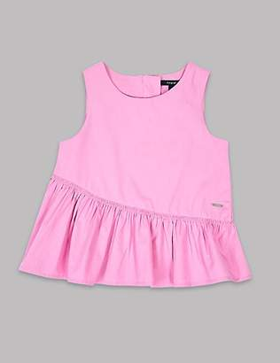 Autograph Frill Hem Pure Cotton Top (3-16 Years)