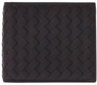 Bottega Veneta Bi Fold Intrecciato Leather Wallet - Mens - Brown