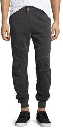 True Religion Faded Moto Sweatpants, Dark Gray $199 thestylecure.com