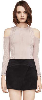 BCBGMAXAZRIA Alouette Cold-Shoulder Sweater