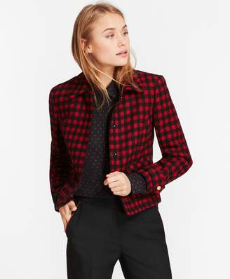 Brooks Brothers Checked Wool-Blend Jacket