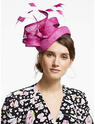 8f7b673dc0a8d Snoxells Yvonne Quills and Loops Pillbox Fascinator, Magenta