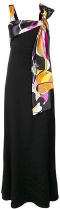 Emilio Pucci tied chest long dress