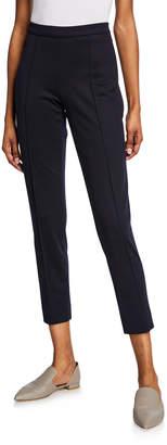 Loro Piana Skinny Wool-Jersey Crop Pants