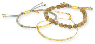 Gorjana Laguna Gray Beaded Bracelets, Set of 3