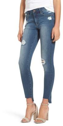 Leith Ripped Step Hem Skinny Jeans