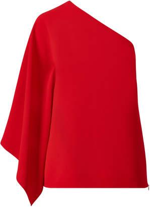 Ralph Lauren One-Shoulder Crepe Top