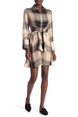 Angie Plaid Printed Shirt Dress