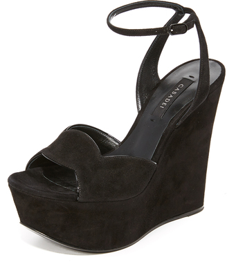 Casadei Wedge Sandals $710 thestylecure.com