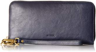 Fossil Women's Emma Rfid Large Leather Zip Clutch