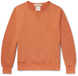 Remi Relief Distressed Loopback Cotton-Jersey Sweatshirt