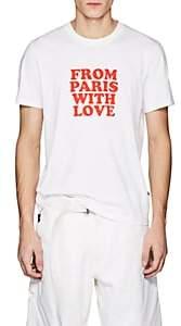 "Ami Alexandre Mattiussi Men's ""From Paris With Love"" Cotton T-Shirt - White"