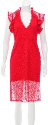 Alexis Lace Knee-Length Dress