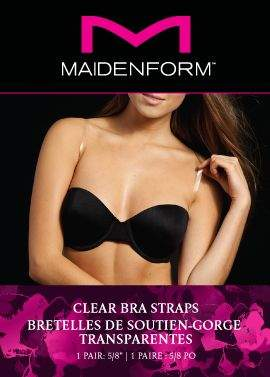 Maidenform Accessories 16mm Clear bra straps