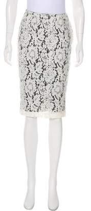 Patrizia Pepe Lace Pencil Skirt