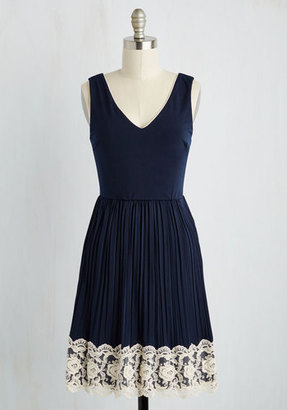 YELLOW STAR Personal Essayist A-Line Dress in Navy $59.99 thestylecure.com