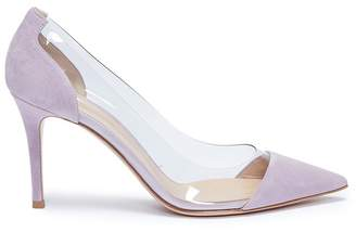 Gianvito Rossi 'Plexi' clear PVC suede pumps