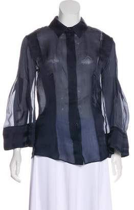 Antonio Berardi Bell Sleeve Button-Up Top