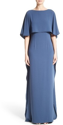 Women's St. John Evening Satin Back Cape Gown $1,695 thestylecure.com