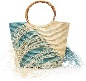 Sensi Studio M'O Exclusive Maxi Two-Tone Straw Tote