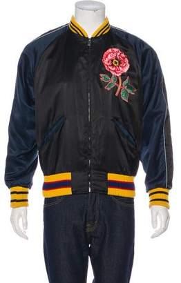 Gucci 2016 Silk-Blend 'L'Aveugle Par Amour' Bomber Jacket