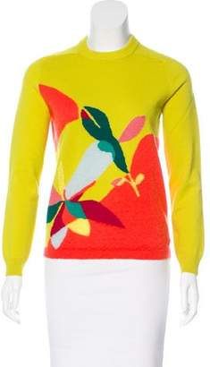 DELPOZO Long Sleeve Intarsia Sweater