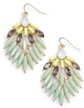 Adia Kibur Stone Fan Earrings