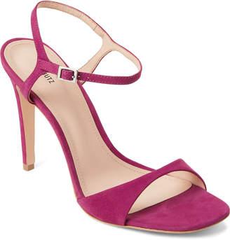 Schutz Grape Jade Leather High Heel Sandals