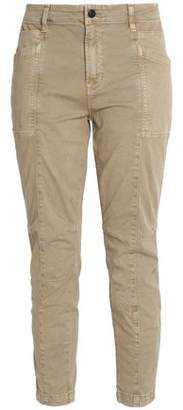 J Brand Byrnes Mid-Rise Stretch-Cotton Twill Skinny Pants