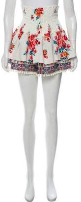 MISA Los Angeles Printed Layered Mini Shorts