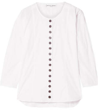 Apiece Apart Nadiya Cotton-poplin Top - White